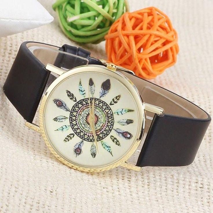 Boho Style Feather Watch