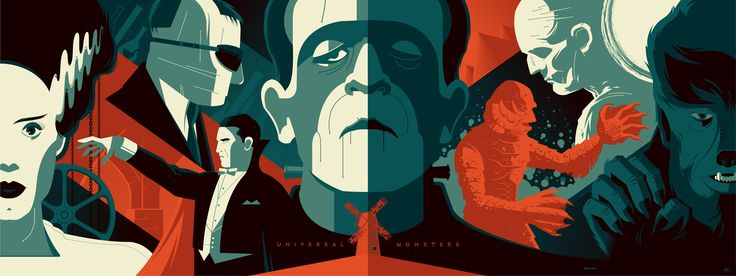 Universal Monsters - Tom Whalen
