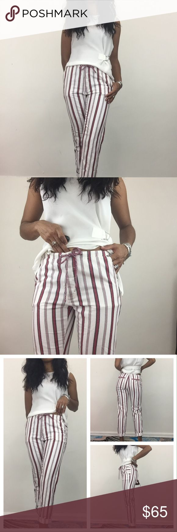 ♥️Z&V Stripped Cotton Pants Really cute and comfortable cotton stripped pants with front button up and tie. Features side pockets and waist tie. Brand new with tags. Zadig & Voltaire Pants