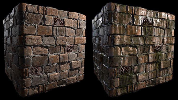 Tiling Sewer Wall, Daniel McGowan on ArtStation at https://www.artstation.com/artwork/5YQkA