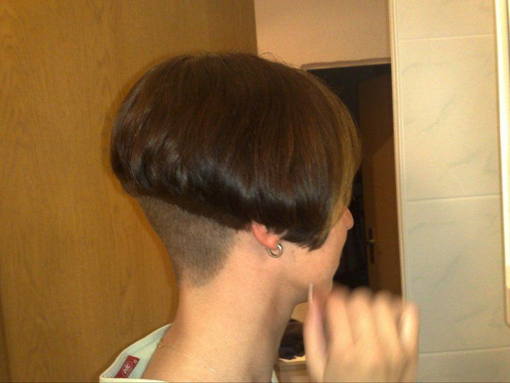 Shaved bob cuts