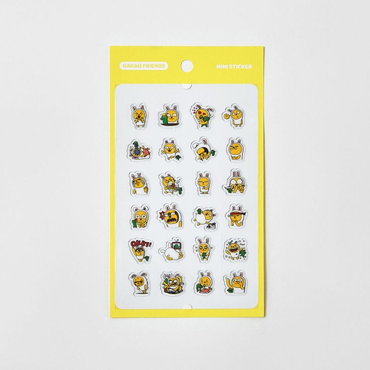 Korea Kakao Talk Friends Character Transparent Mini Sticker Muzi & Corn #KakaoFriends #Transparentstickers