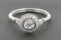 Antique style diamond cluster | Platinum Works | Loose Diamonds Gemstones, Diamond Wedding and Engagement Rings