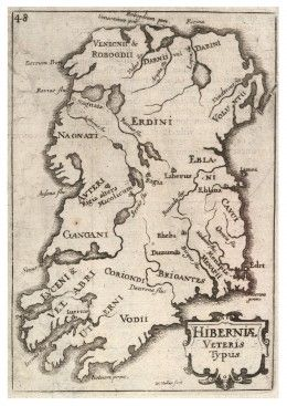 Medieval  map of Ireland, showing Irish tribes.   The latest research into Irish DNA has confirmed that the early inhabitants of Ireland were not directly descended from the Keltoi of central Europe. In fact the closest genetic relatives of the Irish in Europe are to be found in the north of Spain in the region known as the Basque Country. These same ancestors are shared to an extent with the people of Britain - especially the Scottish.