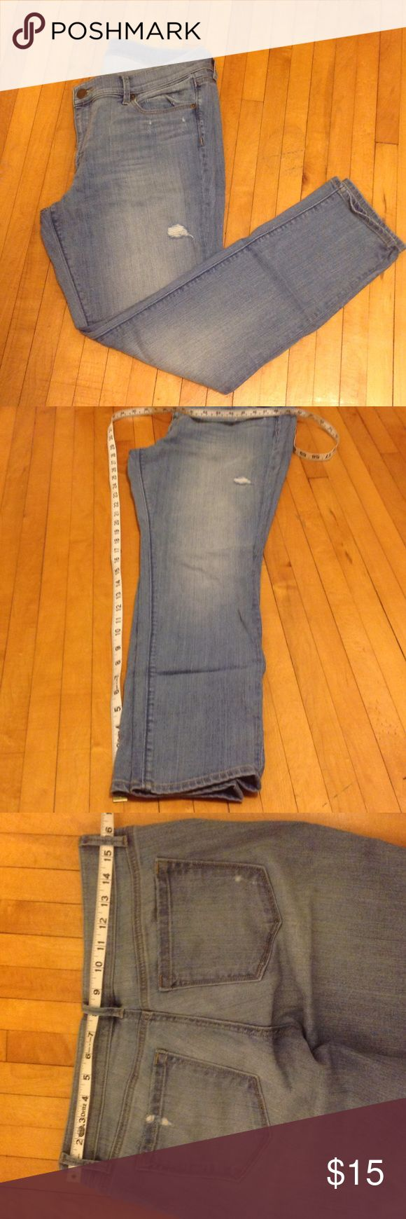 Skinny Jeans, NWOT, Loft, 12 Petite Loft, 12 petite skinny jeans, would look great tucked in some boots this winter, or rolled up in the spring with flats. NWOT, great distressed look but not overly done. LOFT Jeans Skinny
