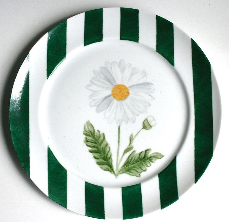 Aparelho Flores - prato sobremesa verde