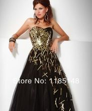 2014 neue special! schwarze cocktailkleid gold pailletten rock hohe taille schlank Abendkleider freies verschiffen //Price: $US $105.00 & FREE Shipping //     #clknetwork