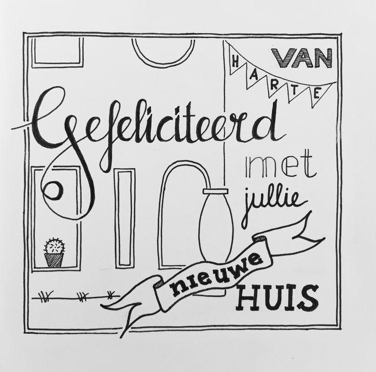 Gefeliciteerd met jullie nieuwe huis Handlettering Juvejo 20170609