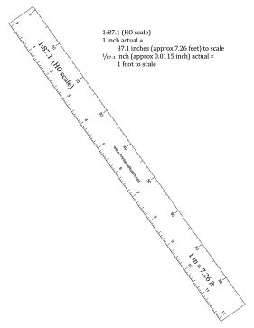 this ruler in ho scale 1 87 1 scale is great for use by model Ho Wiring Basics this ruler in ho scale 1 87 1 scale is great for use by model railroad enthusiasts doll house builders and all other hobbyists fre