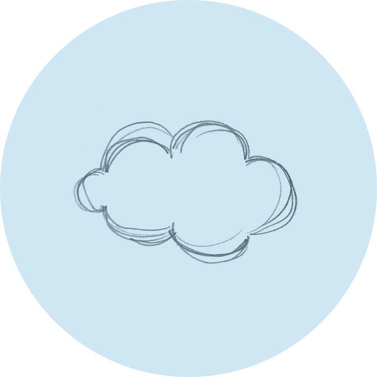 drawing / silver jewellery / cloud rain star / handmade by salenero.com