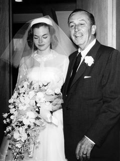Father of the bride! Walt Disney giving Sharon away... This Disney fan loves this!