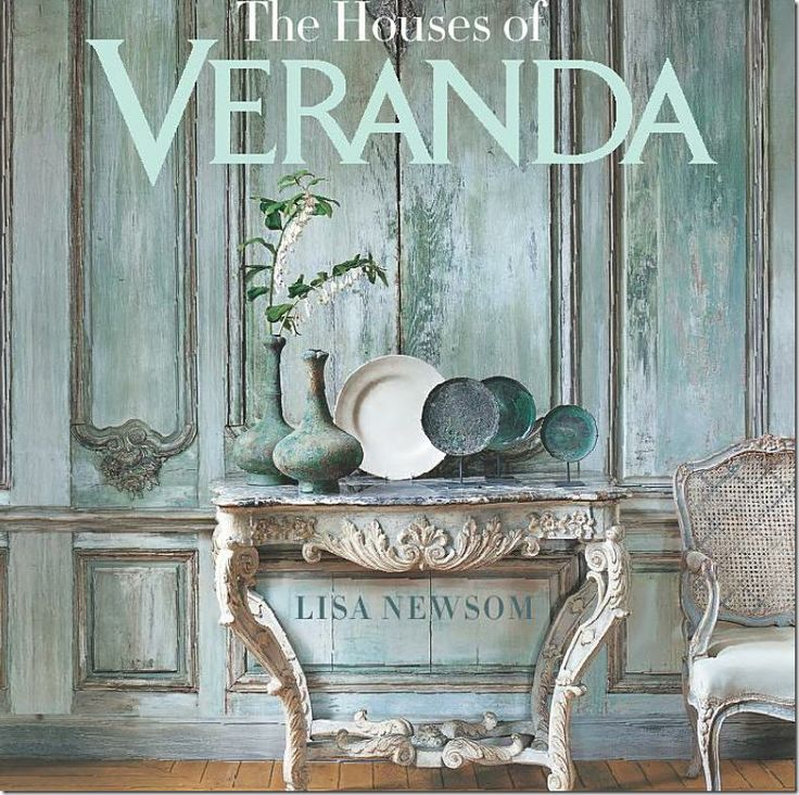 Could gaze for way too long at the pale aqua boiserie on the cover of this dreamy book by Veranda.