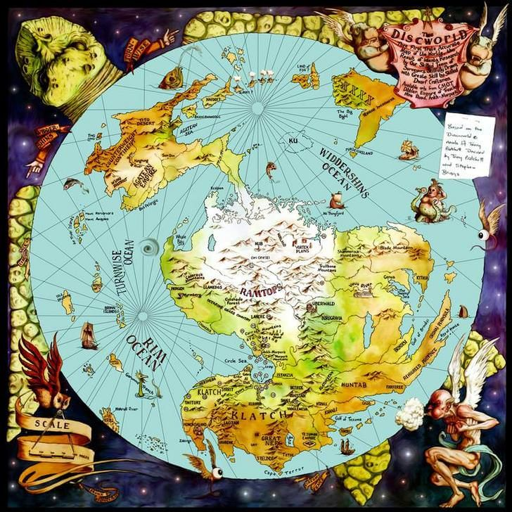 Discworld Mapp Restored Discworld Map Fantasy Map Terry Pratchett