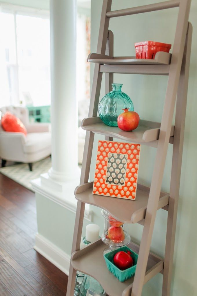 Great accessory ladder - House of Turquoise: Katelyn James Photography
