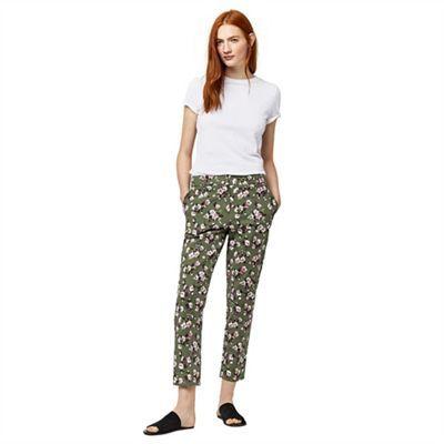 Warehouse Mae floral trousers | Debenhams