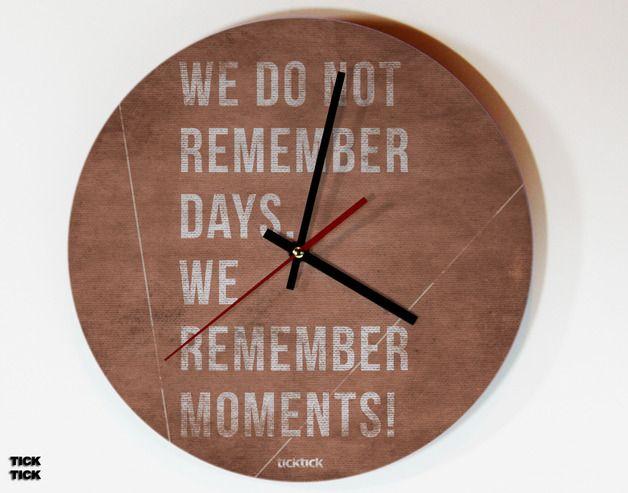 10 best Uhren images on Pinterest Beads, Cool ideas and Decoration - schöne wanduhren wohnzimmer
