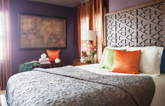 OMG, I want this headboard...Shopping Sources & Color Ideas: A Dark, Cozy Bedroom — Professional Project