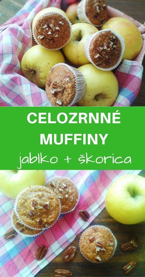 Fantastické sladučké celozrnné muffiny zo špaldovej múky a ovsených vločiek s hrozienkami, jablkami a orieškami.