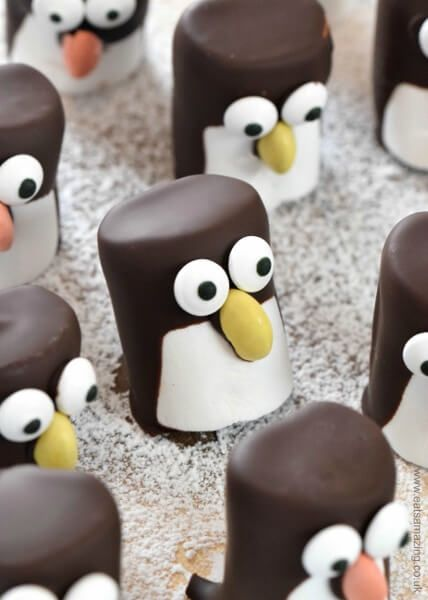 Marshmallow Penguins Recipe Christmas Cookies And Sweets