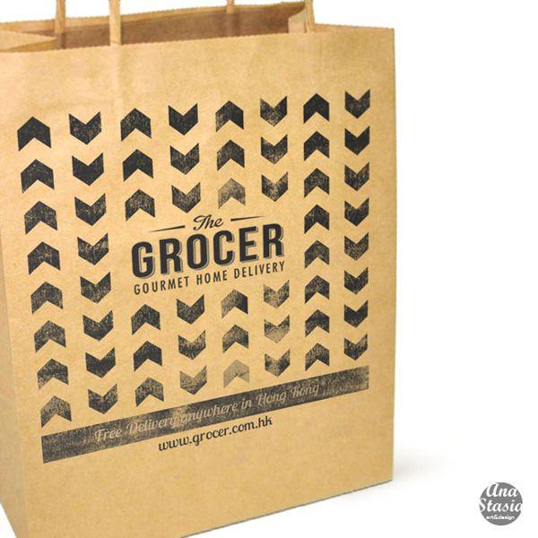 The GROCER | GOURMET HOME DELIVERY by Anastasia Smyslova, via Behance. Packaging  DesignGourmetAnastasiaBranding