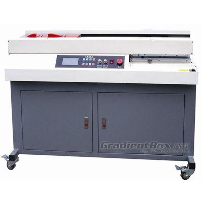 Mesin Jilid untuk binding otomatis berbasis lem panas (hot melt), kapasitas sampai 300 buku/jam dengan kapasitas ketebalan cover sampai 250 gram.