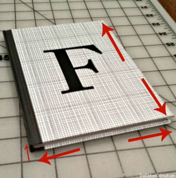Fabric Covered Notebooks - The Ribbon Retreat Blog This site shows you exactly how to measure your notebook and then make a cover to fit precisely.