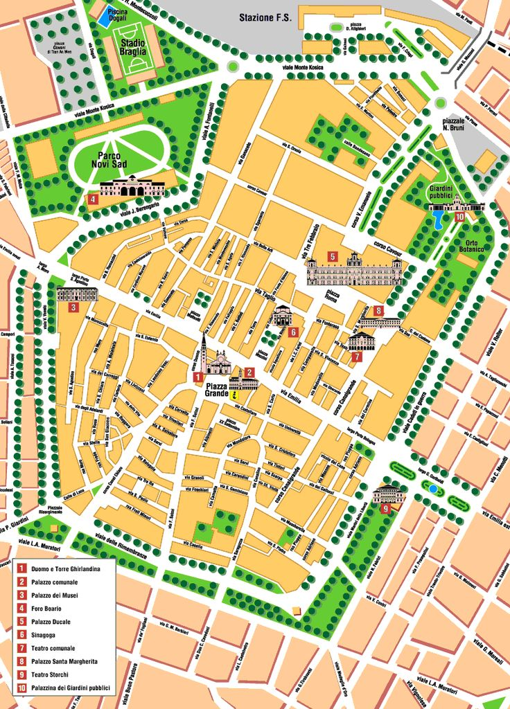 Modena Map - http://holidaymapq.com/modena-map.html