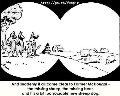 gary larson birka sheep kutya eb dog farkas wolf
