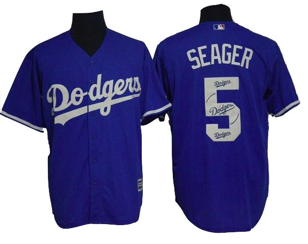 Los Angeles Dodgers Jersey - Corey Seager - Blue Team Logo Fashion Jersey
