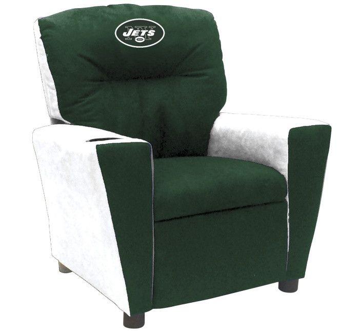 New York Jets NFL Tween Fan Favorite Microfiber Recliner - Visit SportsFansPlus.com for more details!