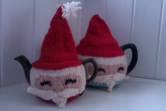 Santa Tea Cozy / Gnome Tea Cosy - 2, 4 and 6 cup Tea Cosy - Knit Pattern Only…