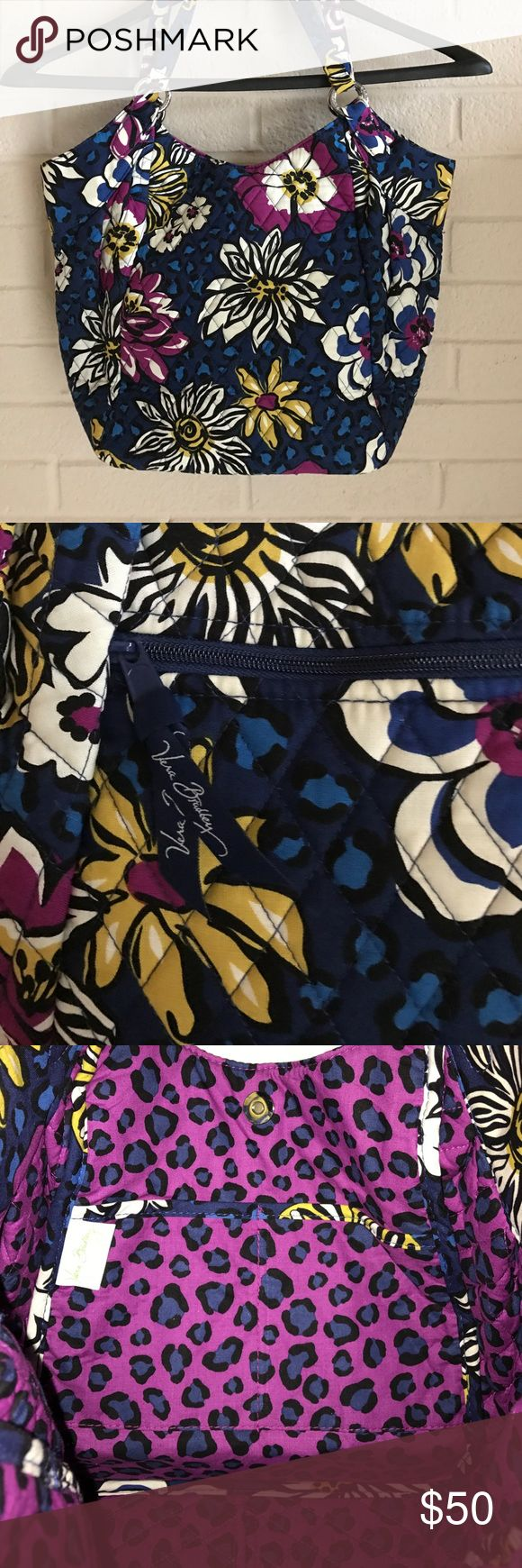 Listing Vera Bradley Tote NWOT Beautiful like new Vera Bradley Tote Bag with front zipper for keys, 2 inside pockets for cellphone and miscellaneous items 12x9 New without Tags Vera Bradley Bags Totes