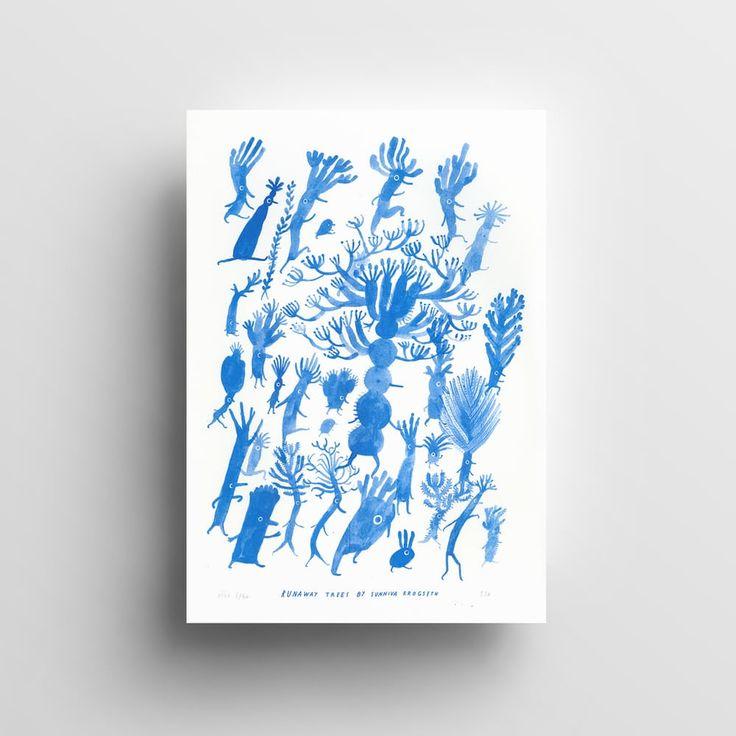 RUNAWAY TREES BLUE