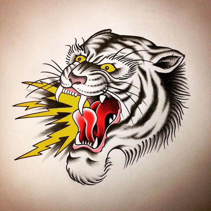 363 best tattoo old school images on pinterest tattoo for American traditional tiger tattoo