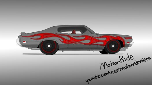 Hey! Here's my speed drawing of Hot Wheels 70 Buick GSX toy car. I changed colors from blue/grey to red/grey. Hope you like it!  The song in the video is MotionRide - The Second 1 [EDM Chiptune]: http://bit.ly/1Iq9R52  Music and art by MotionRide.