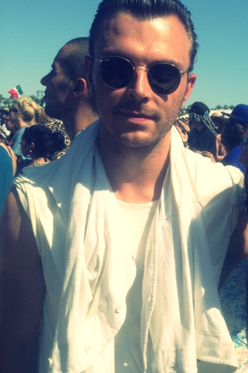 My photo of Theo Hutchcraft. I willingly cut myself out of the photo Jak took of us on my phone last year at Coachella.