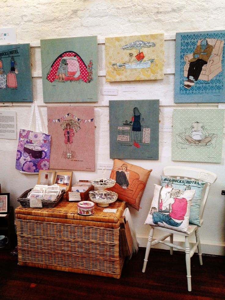 Caroline Kirton's stand at Festival of Craft, 2013