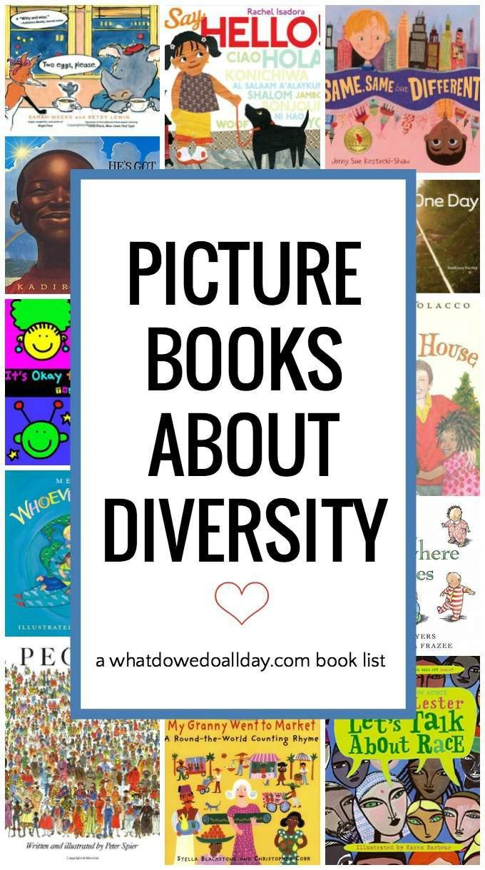 Awesome list of children's books about diversity to teach kids about a multicultural world.
