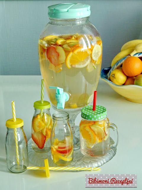 Bibimoni Receptjei: Gyümölcsízesített víz házilag készítve