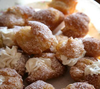 Traditional St. Joseph's Ricotta Cream Puffs Zeppole di San Giuseppe