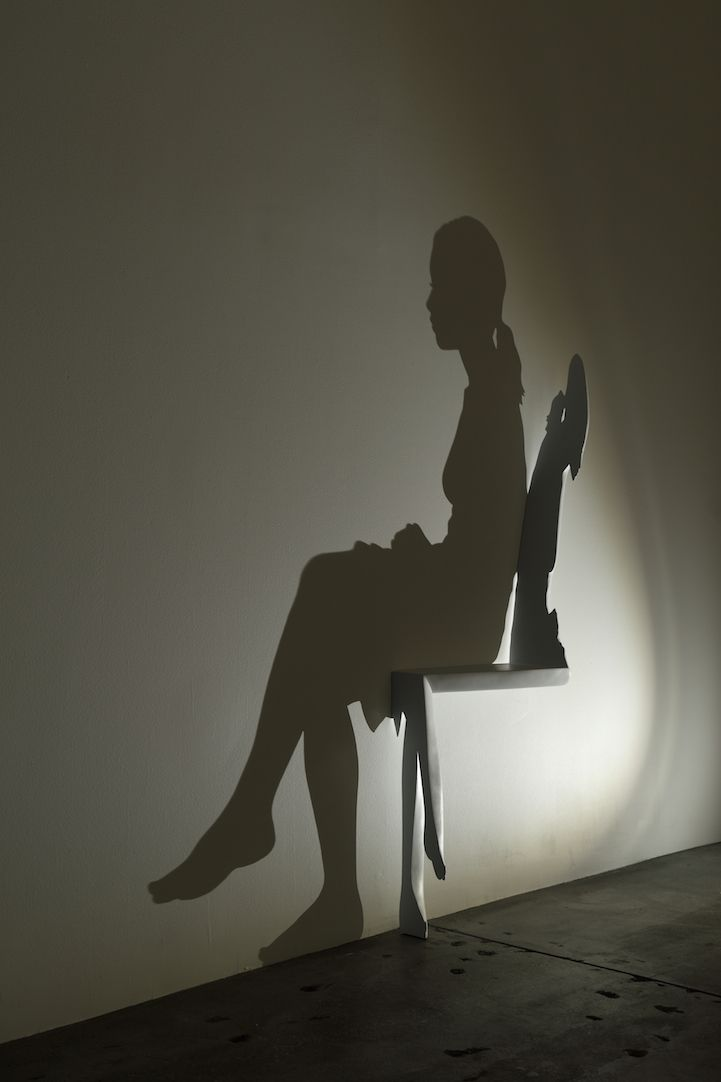 Japanese artist Kumi Yamashita has just constructed a new cherry wood sculpture that shows the shadow of a woman sitting in a chair. Taking a few months to