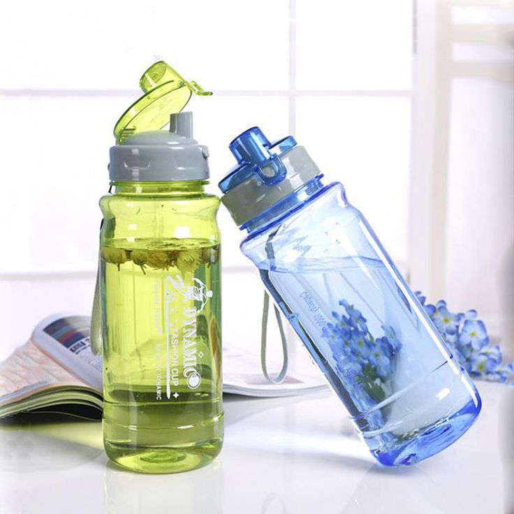 CJ025 Plastic Water Bottles With Cover Lip Filter Clamshell Drinkware Space bottle Water Sports Bottle Portable Drinking.