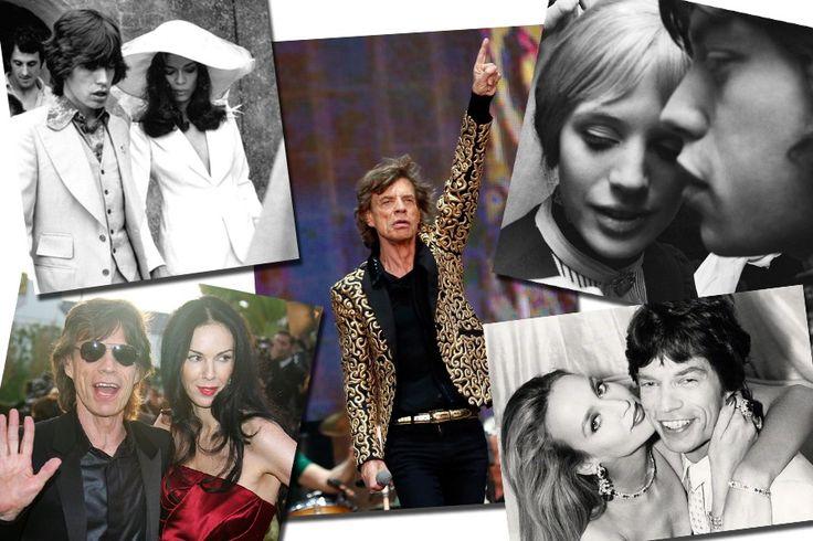 Parabéns!! No aniversário de Mick Jagger uma retrospectiva de seus amores fashionistas