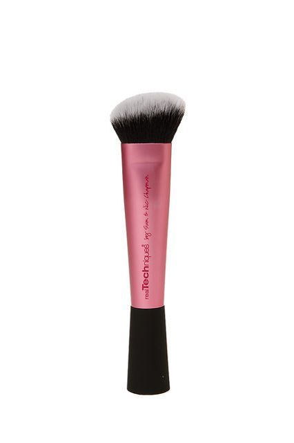 """Under-$20 Makeup Brushes The Pros Actually Swear By #refinery29  http://www.refinery29.com/cheap-makeup-brushes#slide-13  The Expert: Nina Park""""This is my favorite tapered contour brush for buffing in cream or liquid bronzers,"""" Park says. Real Techniques Sculpting Brush, 7.99, available at <a href=""""http://www.drugstore.com/products/prod.asp?pid=552239&catid=325800&aid=338666&a..."""