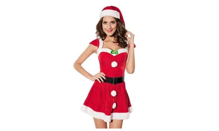 Bigood Winter Christmas Princess Costume Sexy Women Halloween Costume