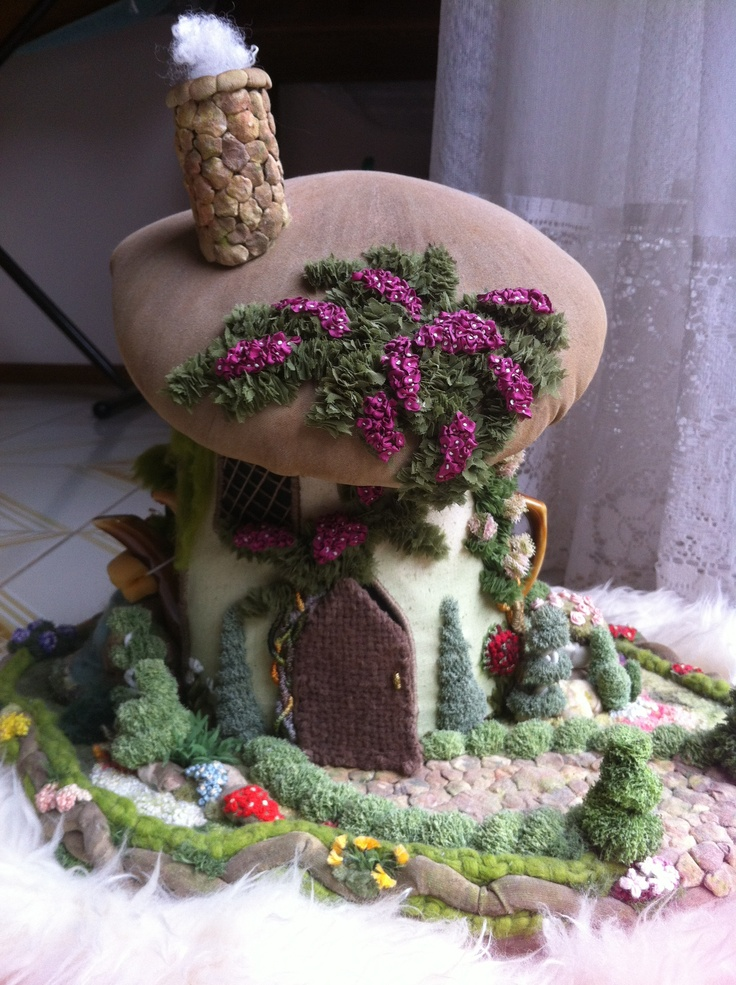 3D Embroidered Garden - Front of Tea Cosy