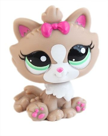 Littlest Pet Shop ♥ LPS ♥ CUTEST BROWN & PINK CAT PERSIAN KITTEN #2640