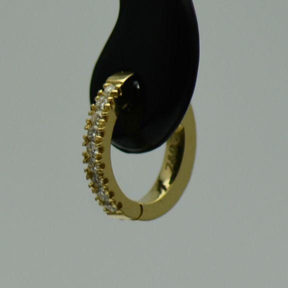 Cercei din aur galben 18k cu diamante(bebelusi)