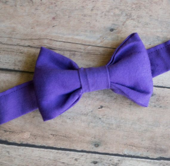 Purple Bow Ties for Boys - Pre-tied Bow Ties, Kids Bow Ties, Toddler Bow Tie, Baby Bow Ties, Boys Bow Tie, Custom Bow Ties
