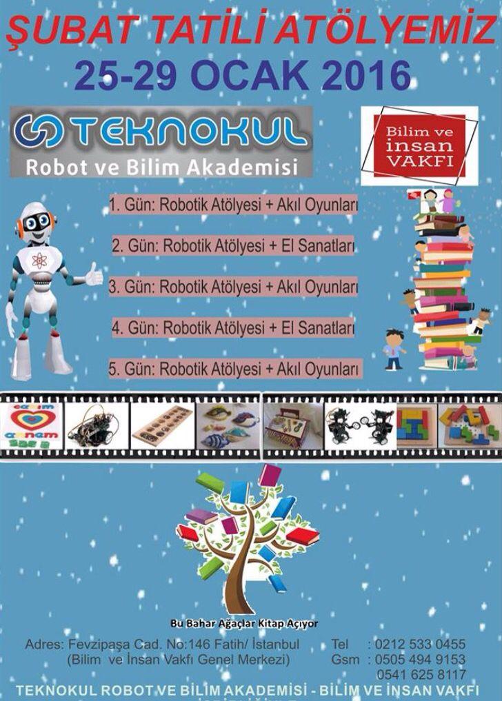 Şubat Tatili Atölyemiz I Robot ve Bilim Akademisi